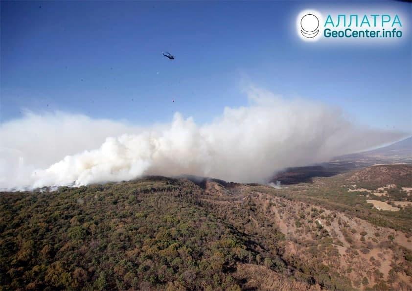 Lesné požiare vo svete, začiatok apríla 2021