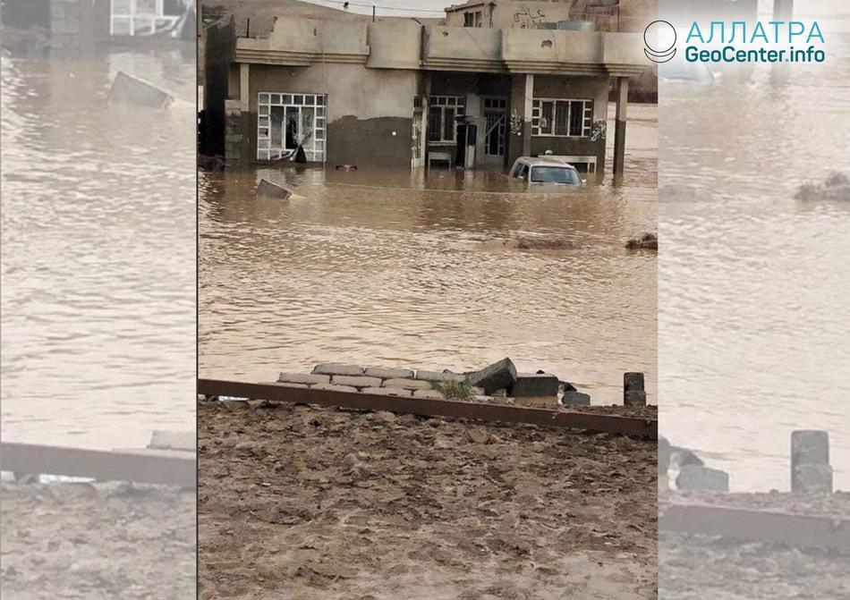 Масштабные ливни и наводнения в Ираке и Саудовской Аравии, ноябрь 2018 года