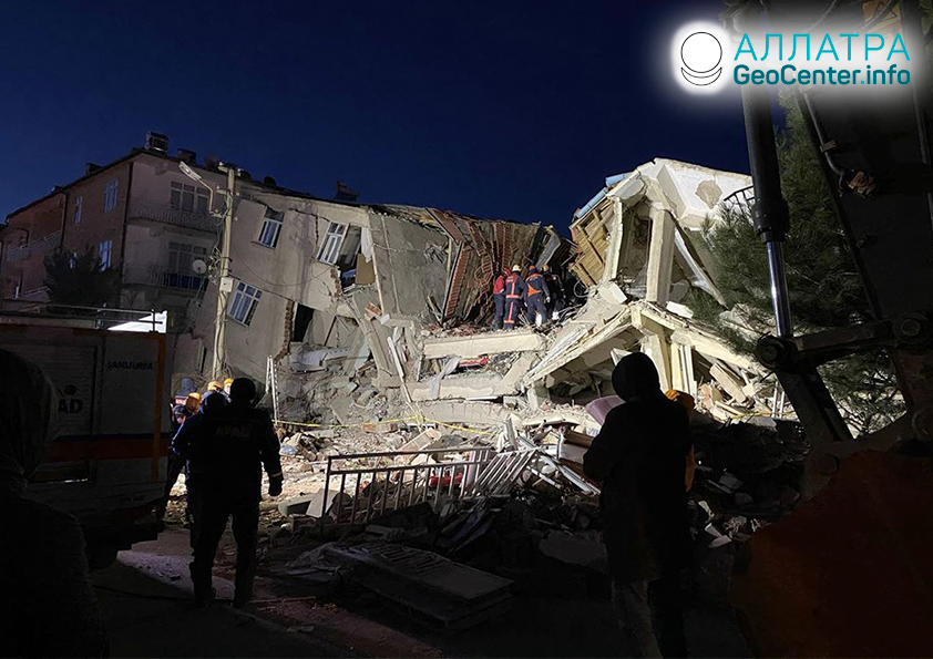 Мощное землетрясение в Турции, январь 2020