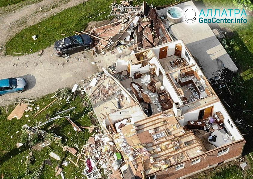 Мощные торнадо в США 27 мая 2019