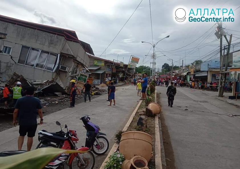 Мощные землетрясения на Филиппинах, декабрь 2019