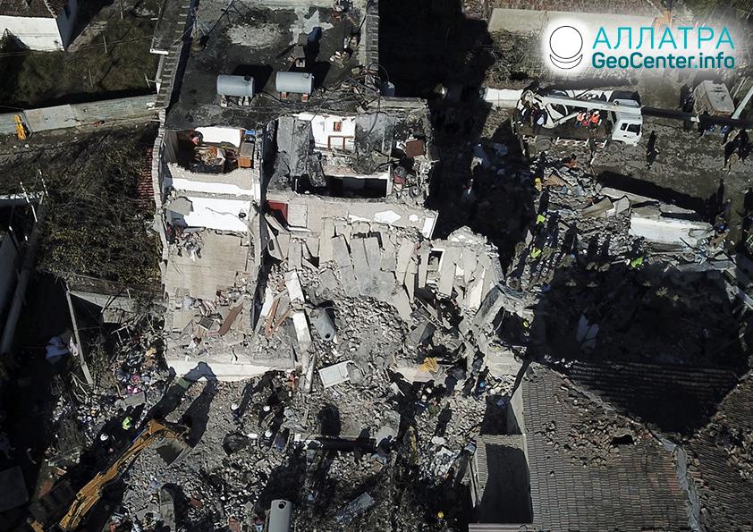 Мощные землетрясения в Албании, ноябрь 2019