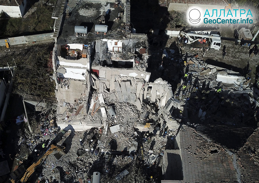 Silné zemetrasenia v Albánsku, november 2019