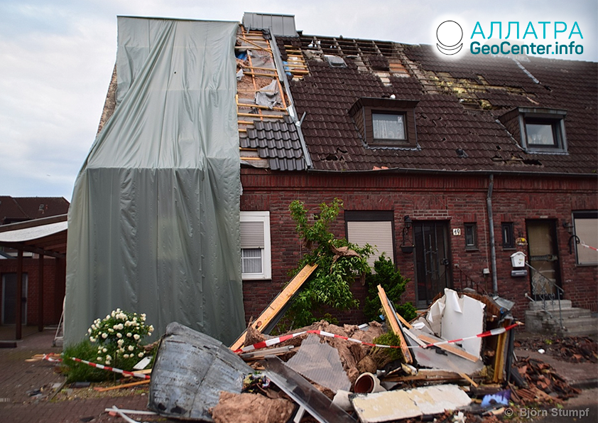Мощный торнадо в Германии, июнь 2019