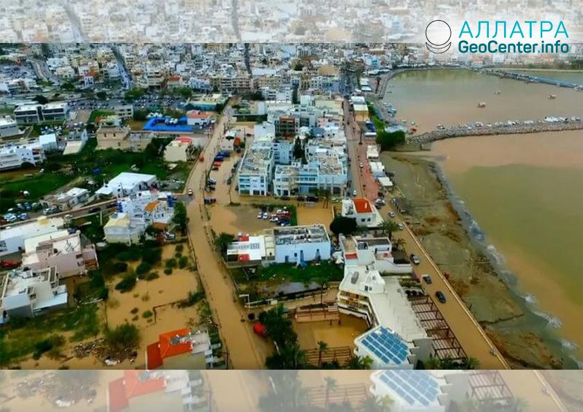 Наводнение на острове Крит (Греция), апрель 2019