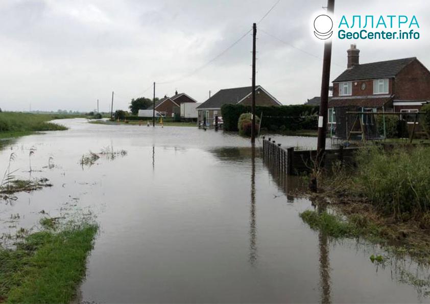 Наводнение в Англии, июнь 2019
