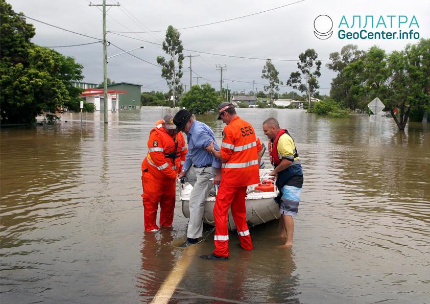 Наводнение в австралийском штате, январь 2019
