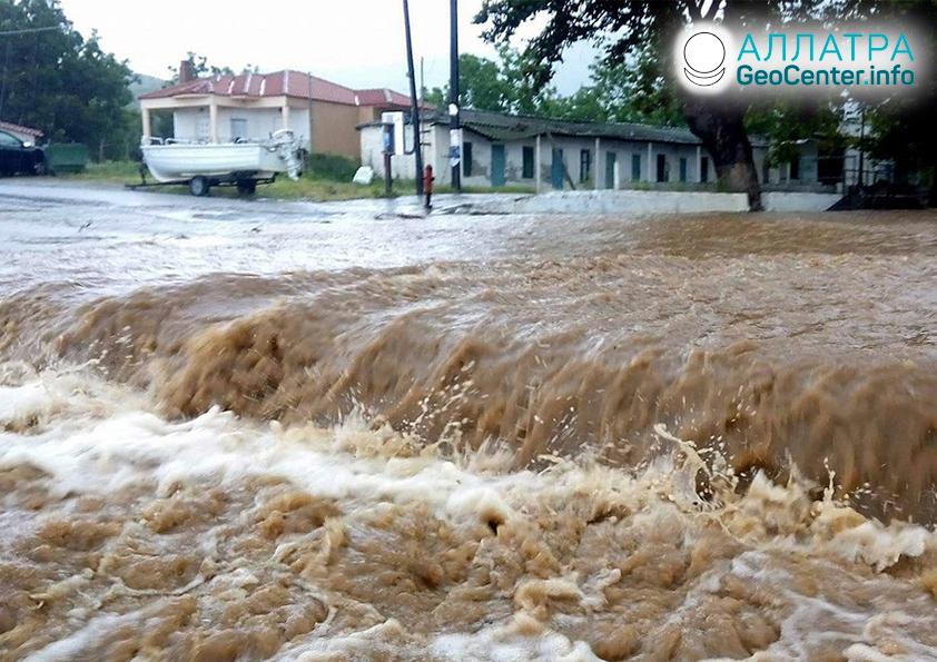 Záplavy v Grécku, apríl 2020