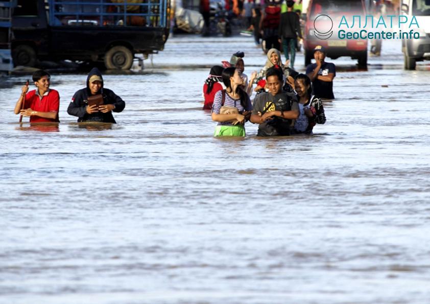 Záplavy v Indonésii, duben 2019
