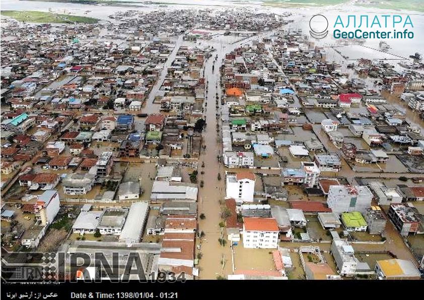 Наводнение в Иране, март 2019