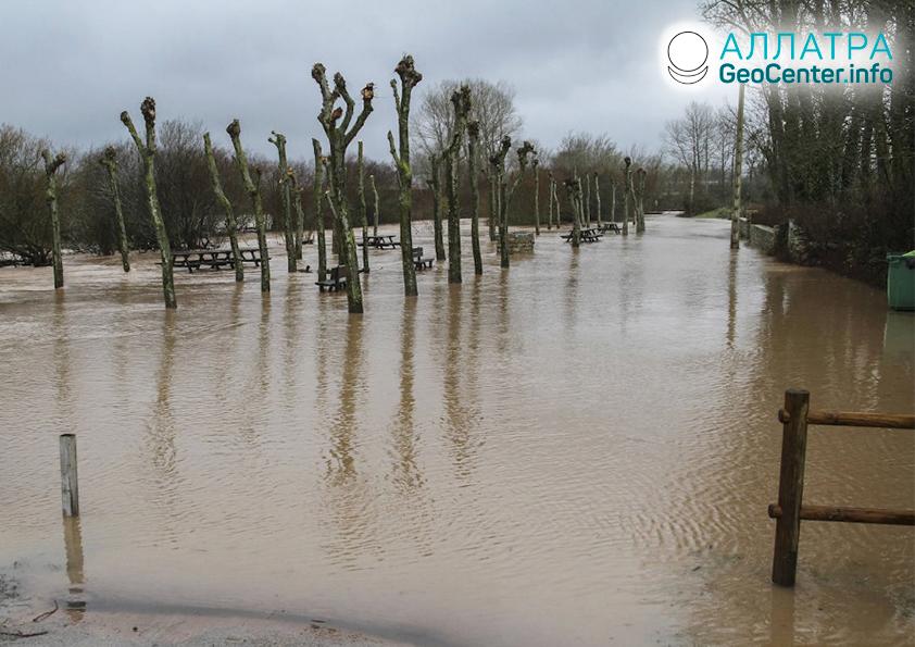 Záplavy v Španielsku, december 2019