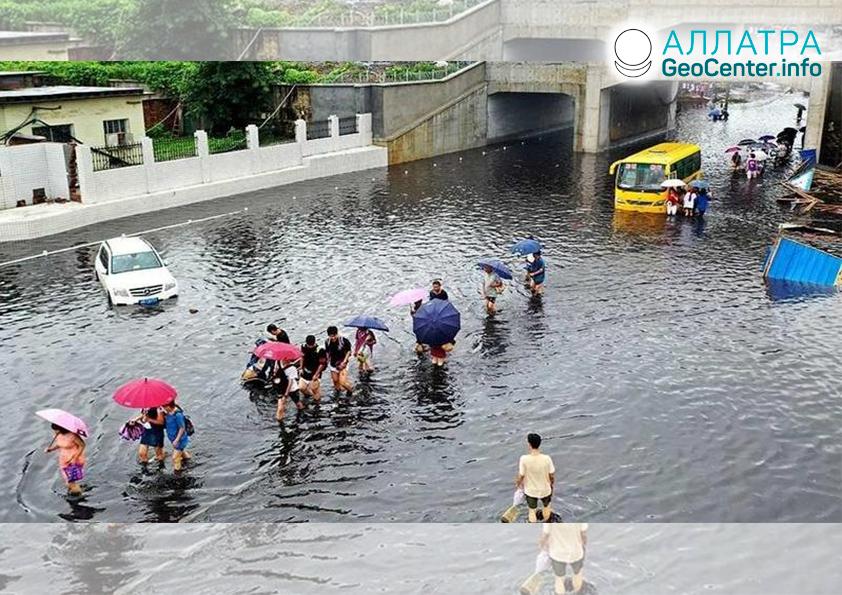 Záplavy v Číne, júl 2019