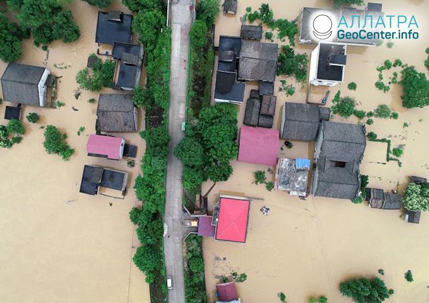 Наводнение в Китае, июнь 2019