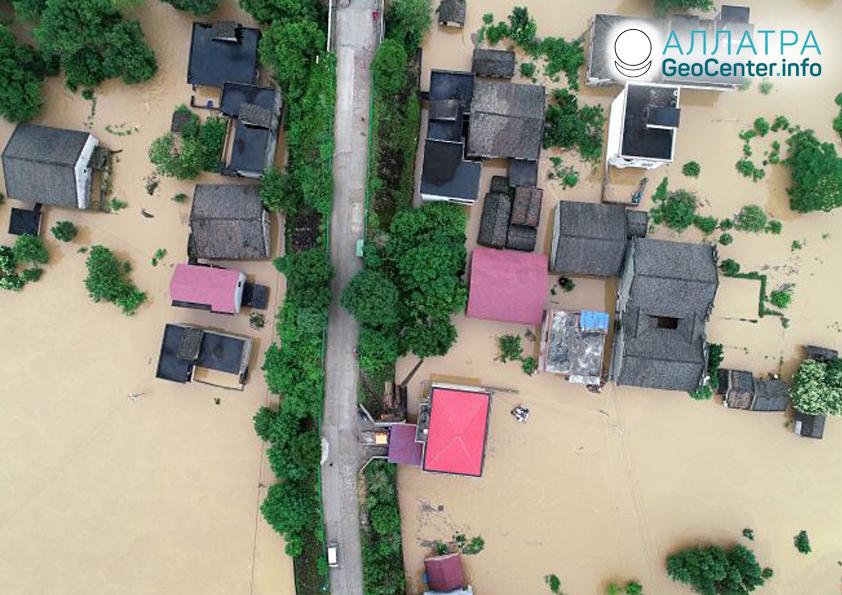 Záplavy v Číne, jún 2019