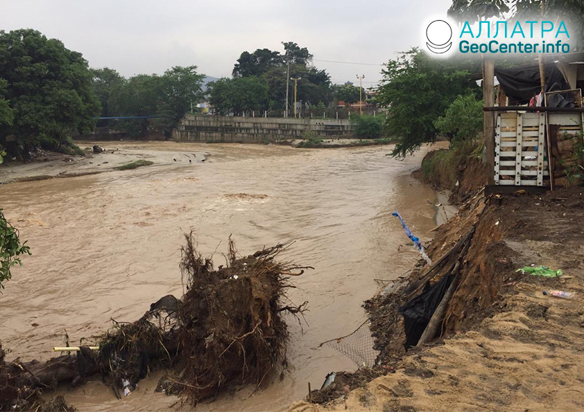Наводнение в Колумбии, март 2020