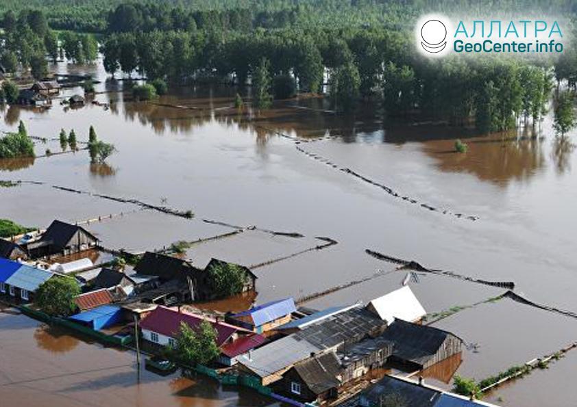 Наводнение в Красноярском крае (Россия), июль 2019