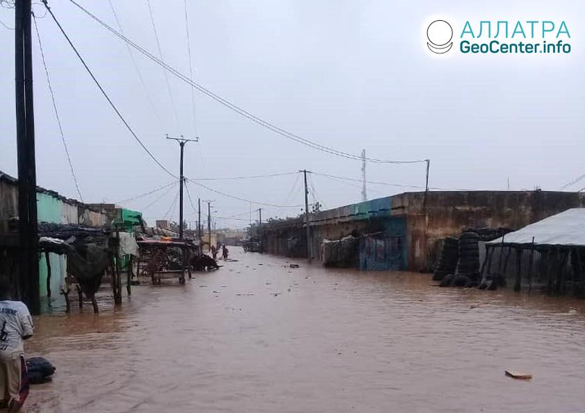 Záplavy v Mauretánii, september 2019