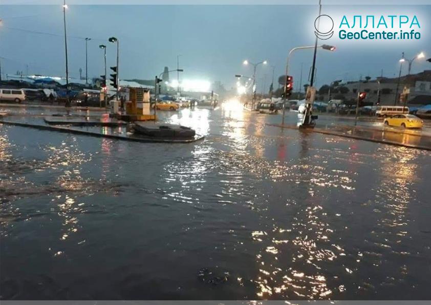 Наводнение в Мосуле (Ирак), декабрь 2018
