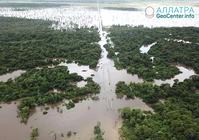 Наводнение в Парагвае, март 2019