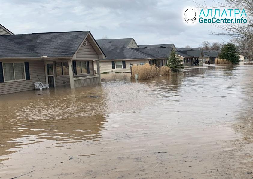 Наводнение в США, март 2020