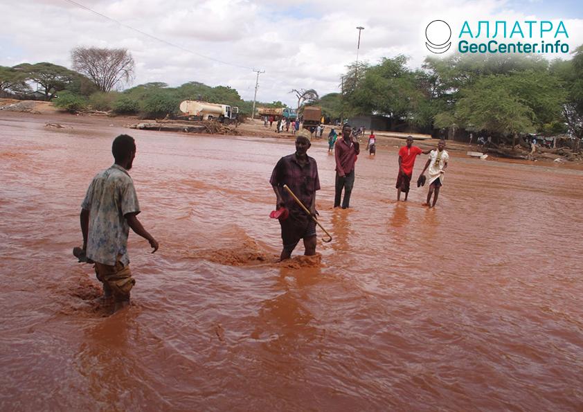 Наводнение в Танзании и Гватемале, январь 2020
