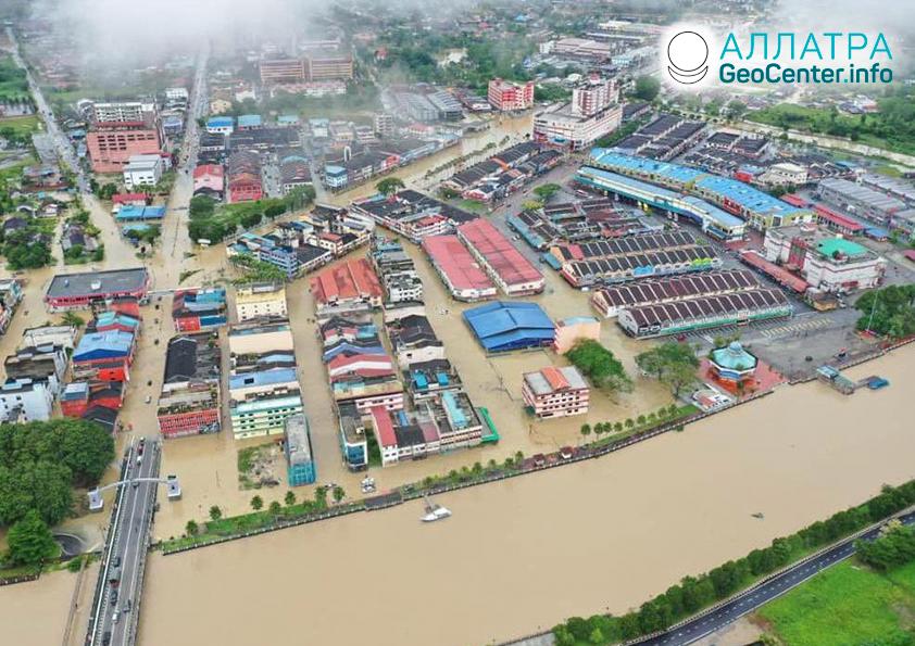 Наводнения и оползни, декабрь 2020-январь 2021