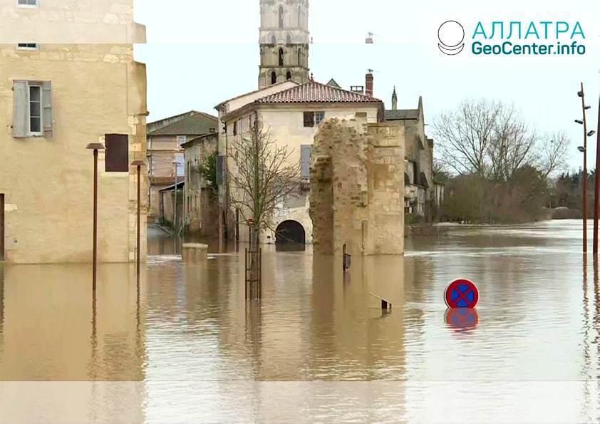 Záplavy a zosuvy, začiatok februára 2021