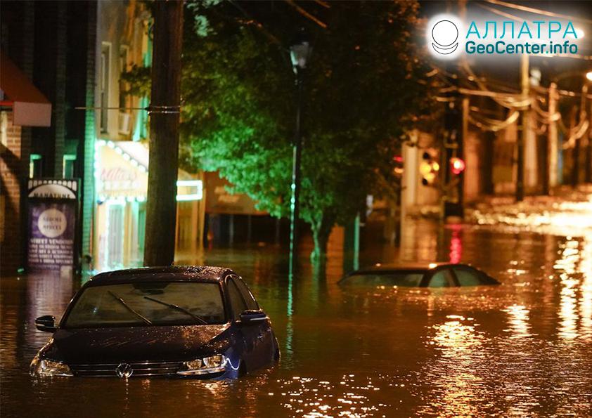 Záplavy a zosuvy, začiatok septembra 2021