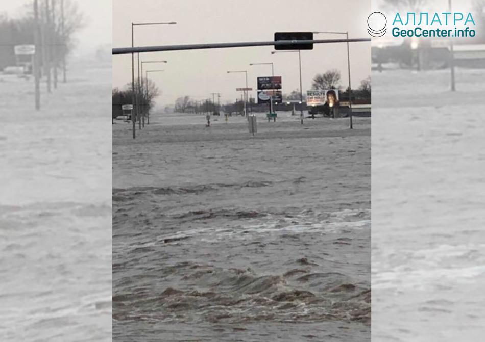 Наводнения и торнадо в США, 14-15 марта 2019