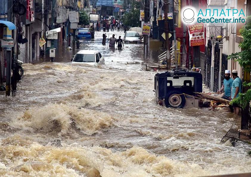 Záplavy na planéte, október 2020