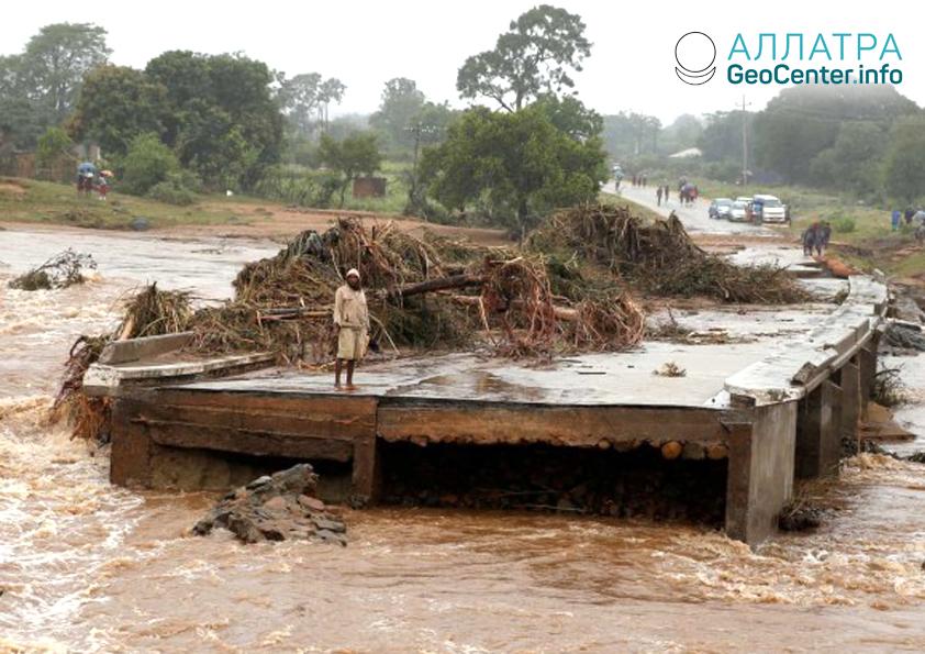 Záplavy v Južnej Afrike, apríl 2019