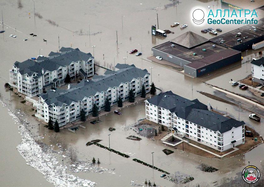 Záplavy v Kanadě a Brazílii, duben 2020