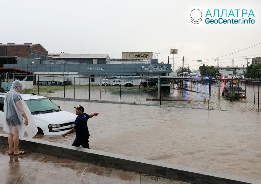 Záplavy v Mexiku, září 2019