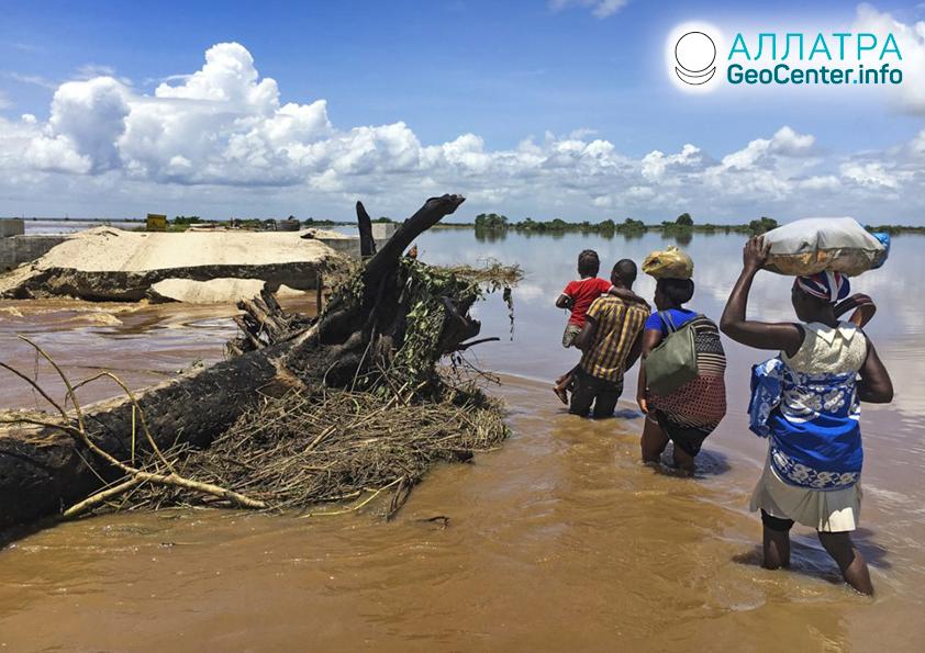 Záplavy v krajinách Afriky, február 2020