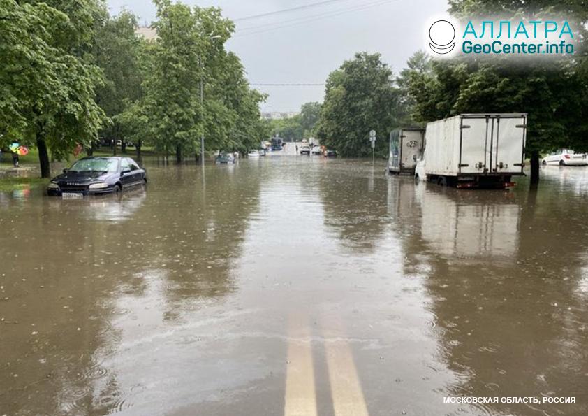 Záplavy v krajinách Európy a Ázie 20. júna 2020