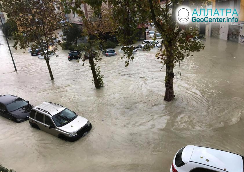 Наводнения в странах мира, ноябрь 2020