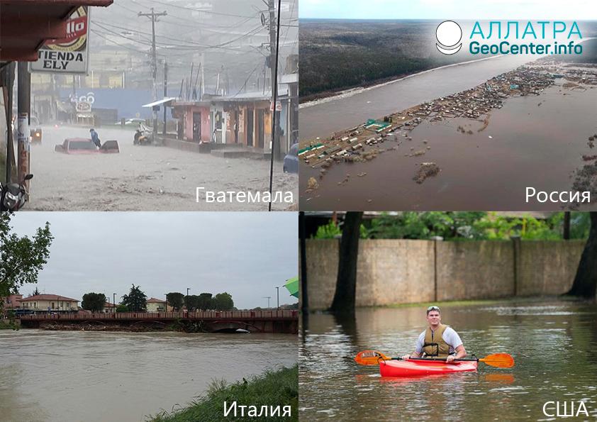 Наводнения в странах мира. Первая половина мая 2019