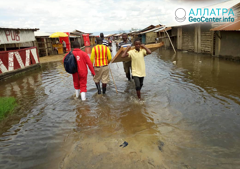 Záplavy v Ugande, máj 2020