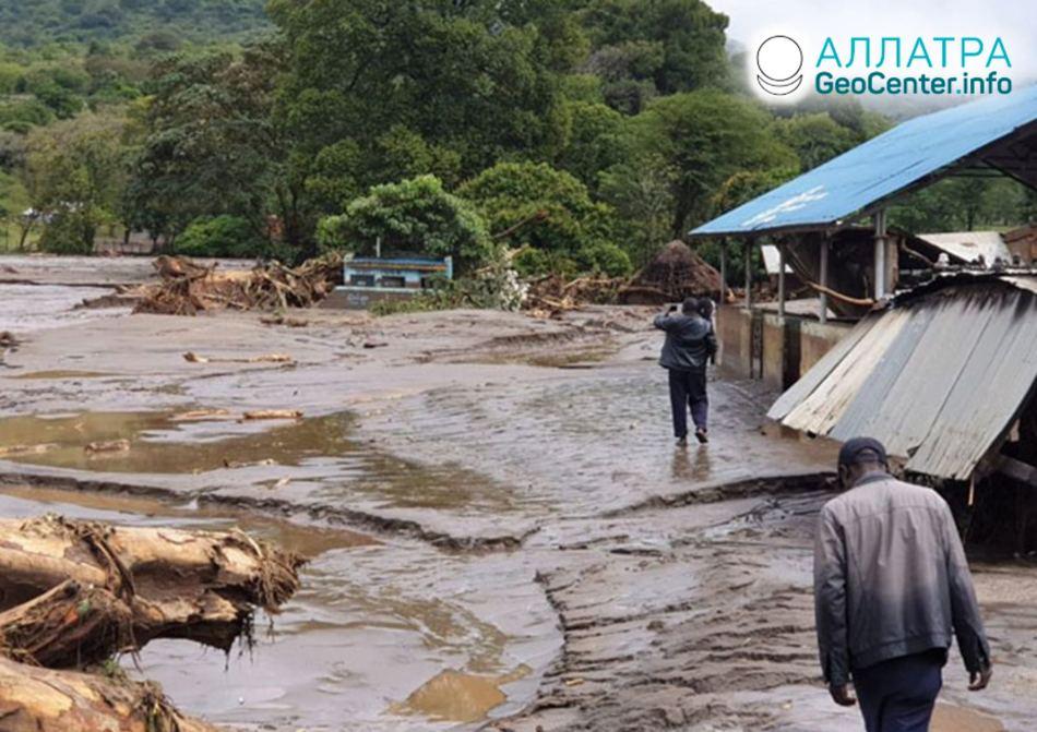 Наводнения и оползни в восточной Африке, декабрь 2019