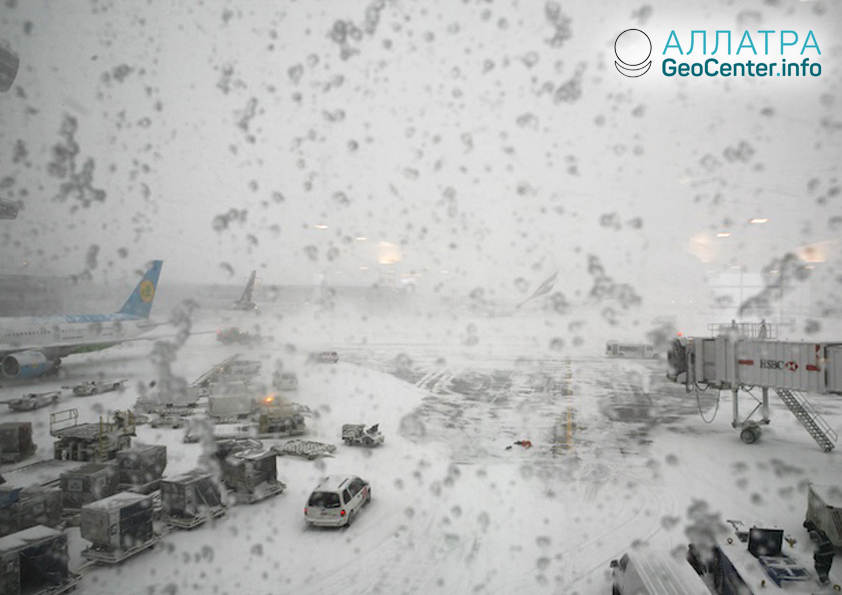 Непогода в США, февраль 2019