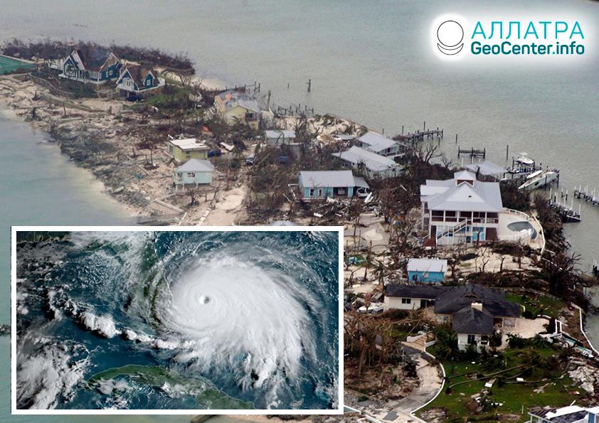 Непредсказуемость урагана «Дориан», сентябрь 2019