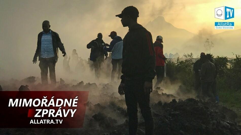 Nouzová evakuace lidí: sopka Nyiragongo, silný cyklon Yaas v Indii, zemětřesení v Číně 2021