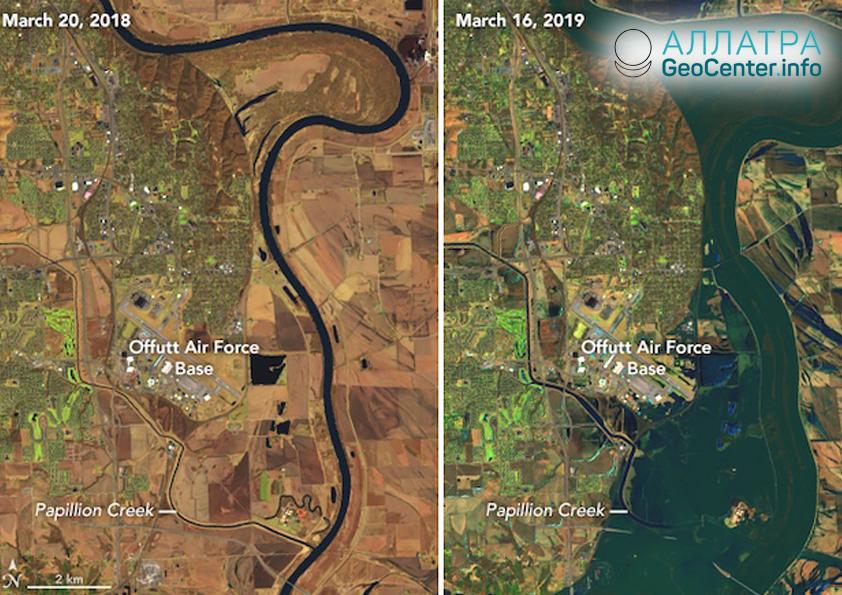 Паводок в США, март 2019