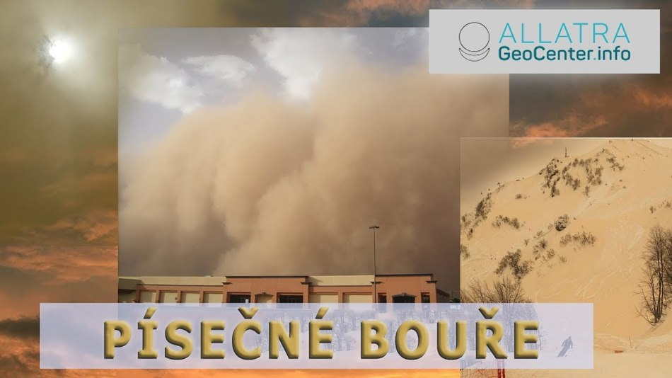Písečná bouře ze Sahary přinesla do Evropy barevné srážky. Klimatické změny. 103 vydání