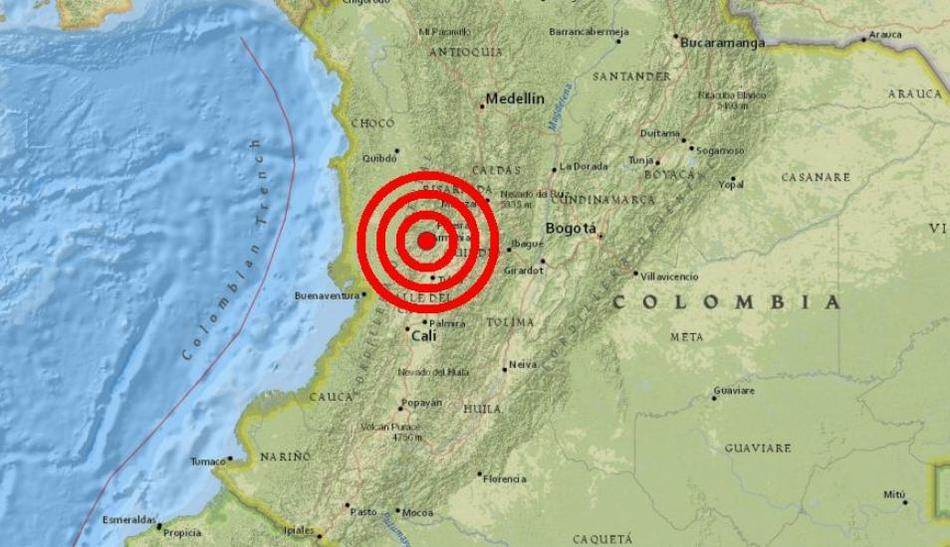 V Kolumbii došlo k podzemnímu otřesu o síle 6,1 stupně, v březnu 2019