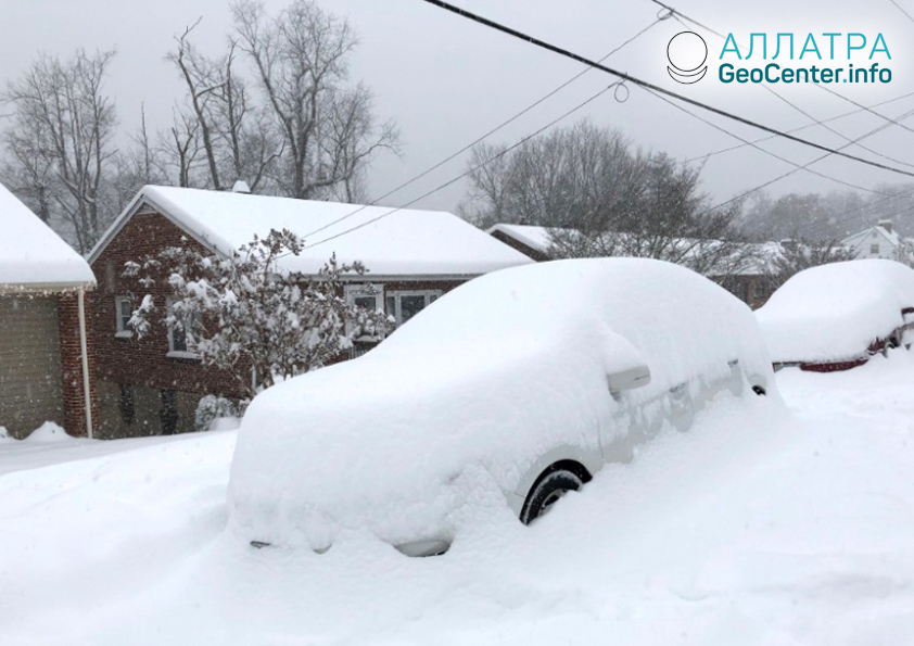 Последствия шторма Диего в США, декабрь 2018