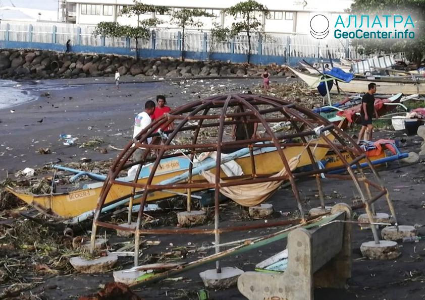 Последствия тайфуна  «Фанфон» на Филиппинах, декабрь 2019