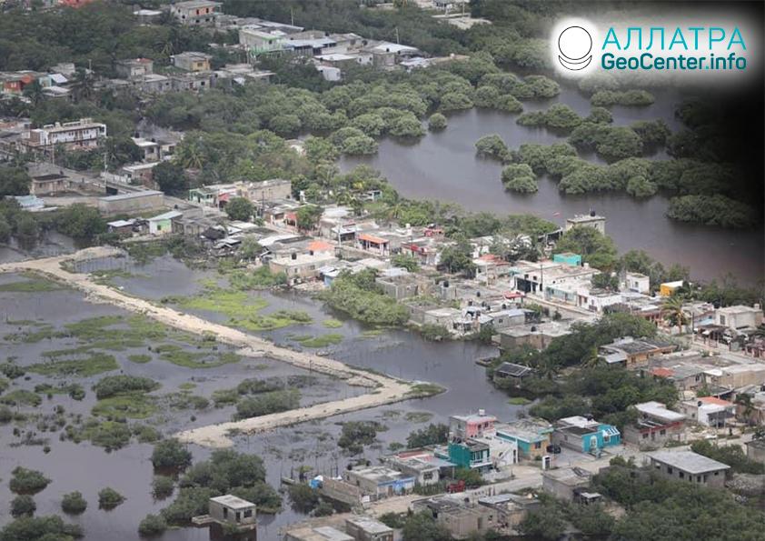 """Последствия урагана """"Дельта"""", октябрь 2020"""