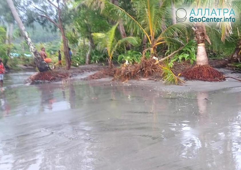 Последствия землетрясения в Новой Каледонии, декабрь 2018