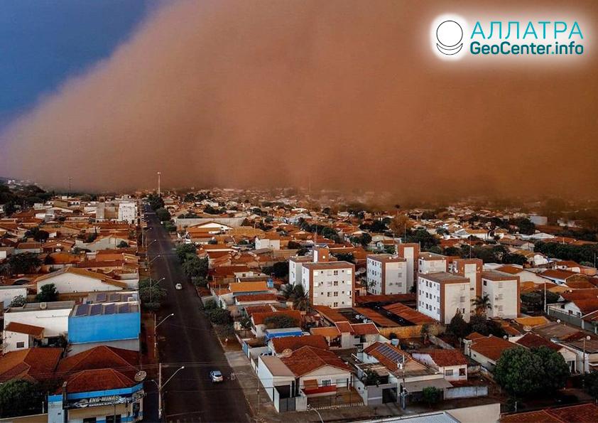 Пыльные бури, октябрь-конец сентября 2021